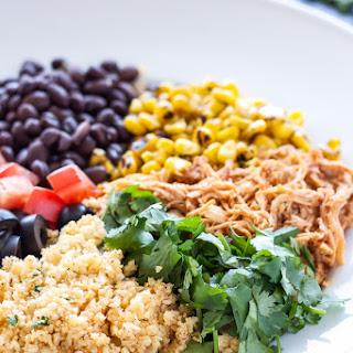 Chicken Enchilada Cauliflower Rice Bowls