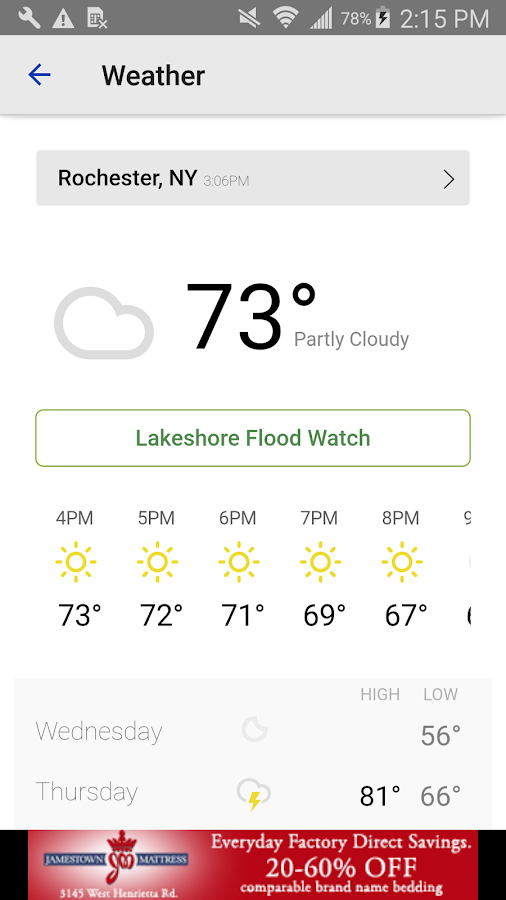 Rochester Ny Weather Latest Forecast News Photos | Lobster House