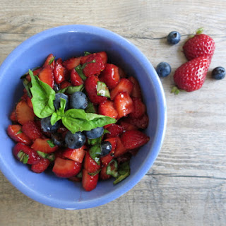 Strawberry Salsa with Fresh Basil and Balsamic