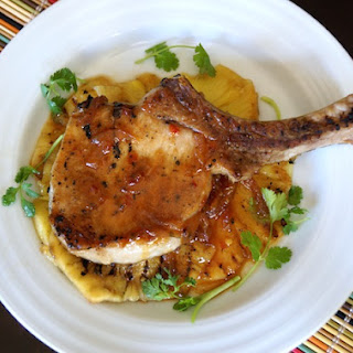 Sweet and Spicy Pineapple Grilled Pork Chop
