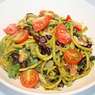 Low-Carb Spinach Pesto Pasta Salad.