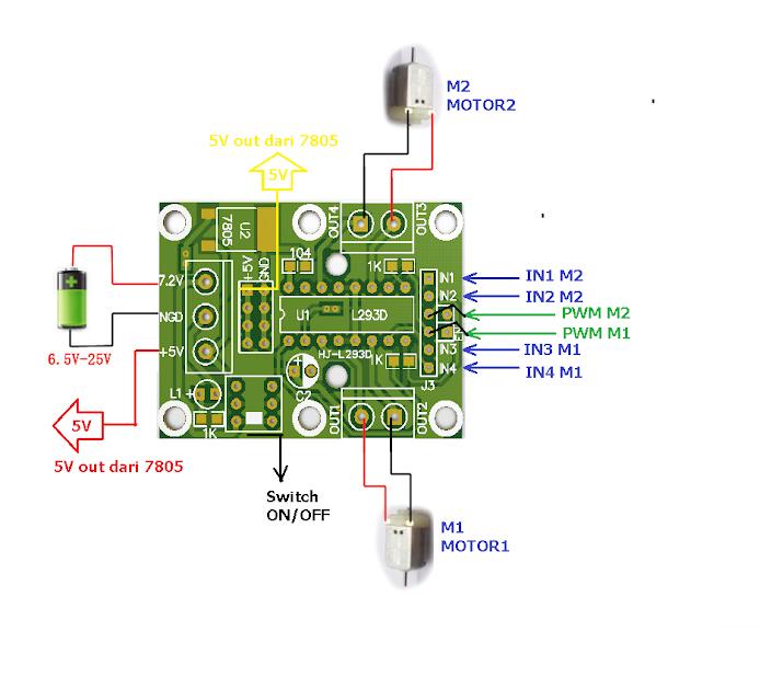 L293D L293 D modul indo-ware model a