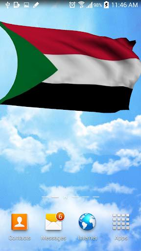 3D Sudan Flag Wallpaper Free