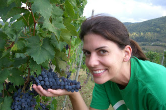 Photo: Teresa in the vineyard behind our villa in Chianti, Italy