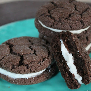 Chocolate Sugared Sandwich Cookie.