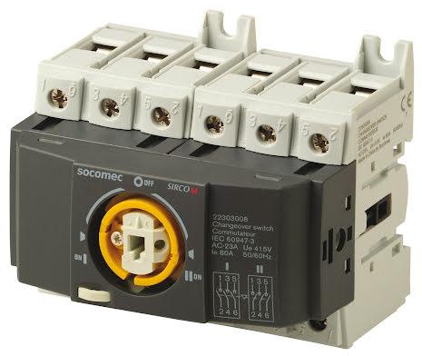 Reservkraftsomkopplare för DIN-skena, Changeover 3x125A