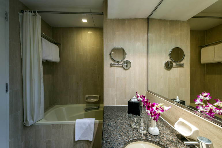 Bathroom at Somerset Liang Court. Robertson Quay