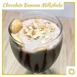 Chocolate Banana Milkshake Without Ice Cream Recipes.