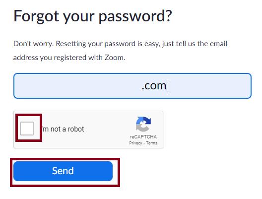 How to change Password in Zoom to fix Zoom error code 1054