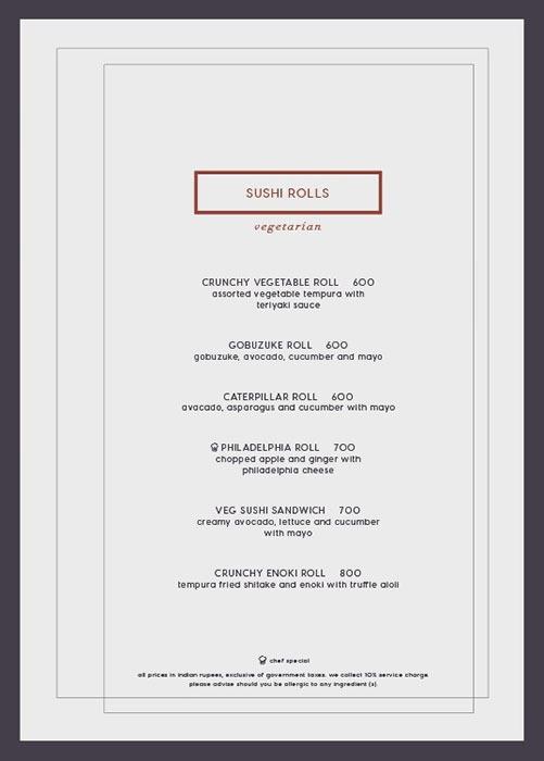 Kampai menu 8