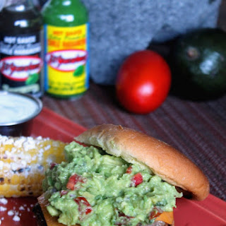Spicy Taco Burgers with Guacamole and Corn