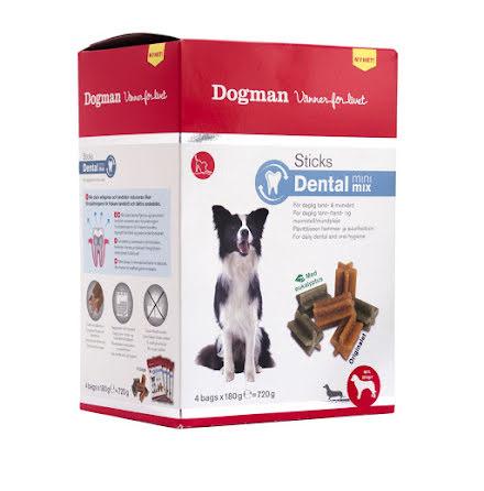 Dental Stick mini mix box 4 påsar x 180g