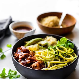 Honey BBQ Baked Salmon Bowls {Meal Prep Recipe}.