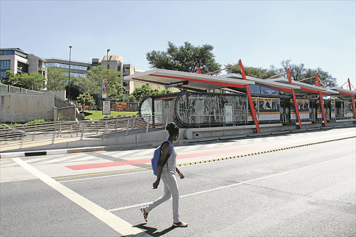 A BRT station at the University of Johannesburg on Kingsway Avenue in Auckland Park, Johannesburg. File photo.