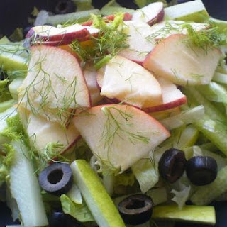 Lettuce, Apple, and Cucumber Salad.