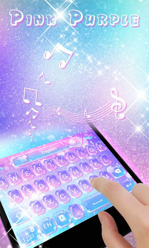 Pink Purple GO Keyboard Theme screenshot