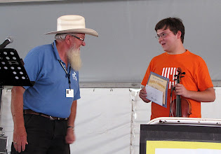 """Photo: Gary Veeder andAdam Jeffreys accepting award for Second Place """"Junior"""" - Photo by Fred Robbins"""