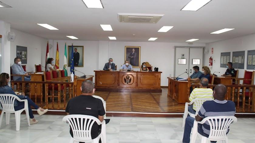 Un momento de la reunión celebrada este miércoles en el Ayuntamiento de Pulpí.
