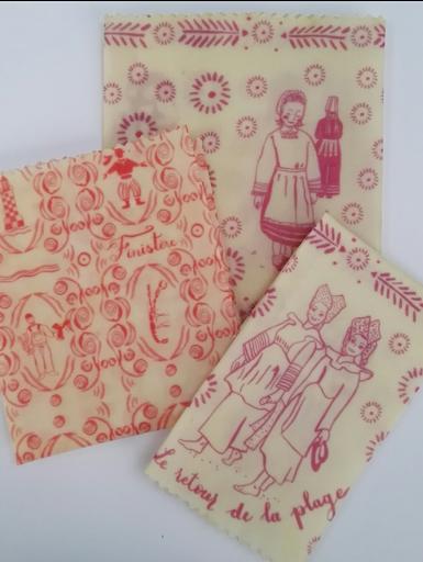 tissu avec sketchnotes et enduit