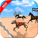 Crazy Dog Racer and Horse Run Icon