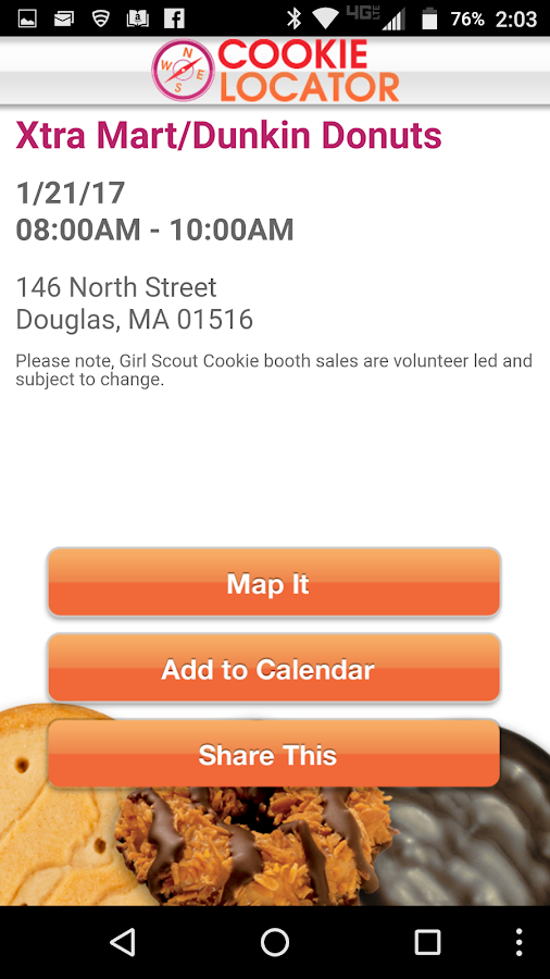 Girl Scout Cookie Locator- screenshot