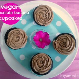 Vegan Chocolate Banana Cupcakes.