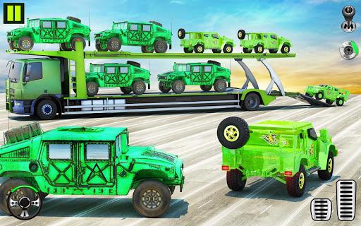 US Army Transporter Plane - Car Transporter Games apktram screenshots 10