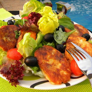 Fried Halloumi Cheese Salad