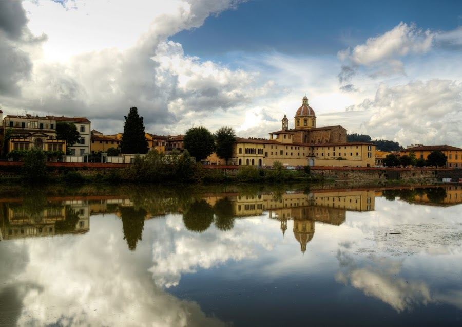 reflections in the arno by Jon Harris - Landscapes Travel