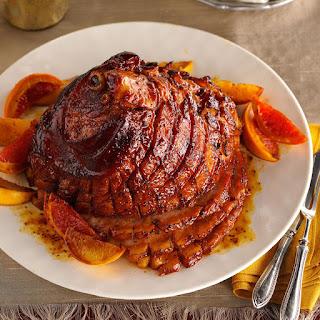 Citrus-Molasses Glazed Ham.