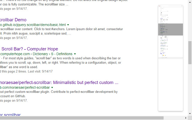 Minimap Scrollbar
