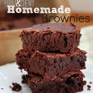 Fudgy Chewy Homemade Brownie Recipe