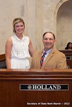 Photo: 3-27-13 Sen Holland with Hannah Simmons