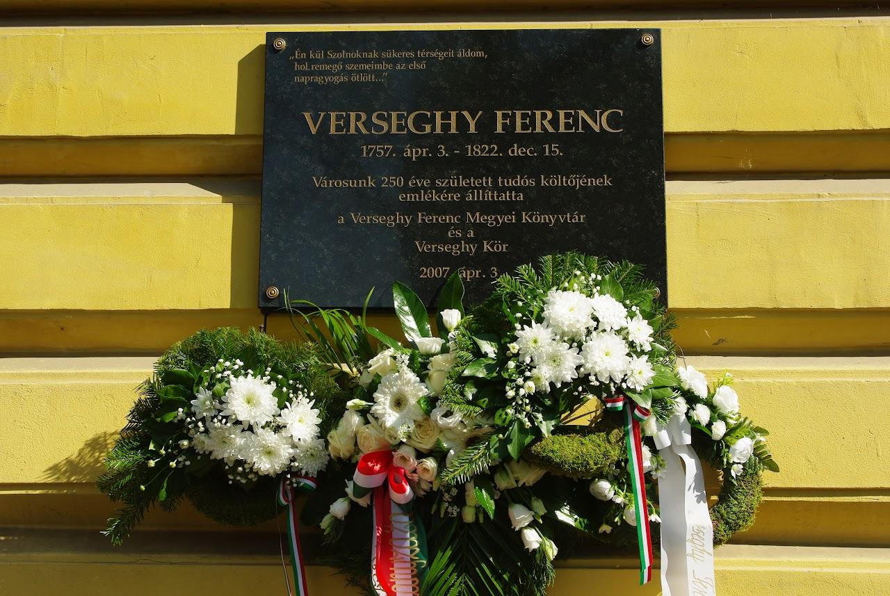 Verseghy Ferenc emléktáblája