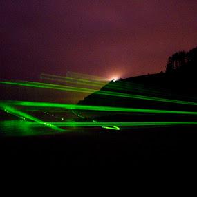 Beach Lightshow by Jamie Newton - Landscapes Travel ( washington, night, light, coast )