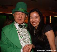 Photo: The Leprechaun (Tom Richards) and & Teresa Vazquez-Evans