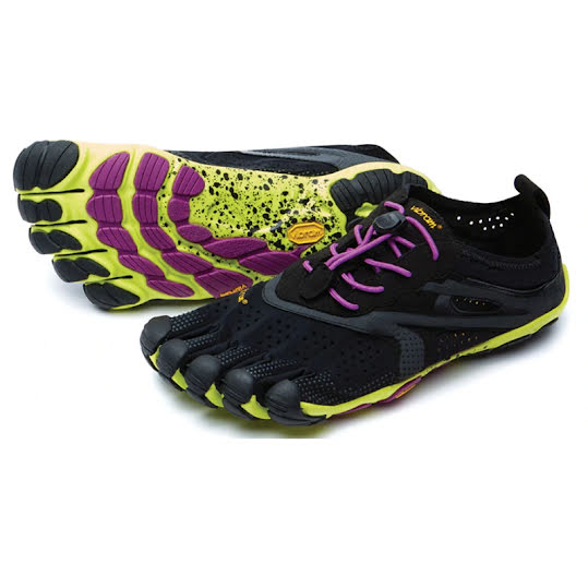 Vibram FiveFingers V-Run Woman Black/Yellow/Purple Stl: 36