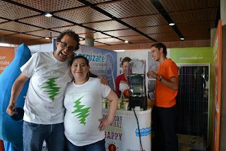 Photo: Claudia y Juan Daniel con mucha energía