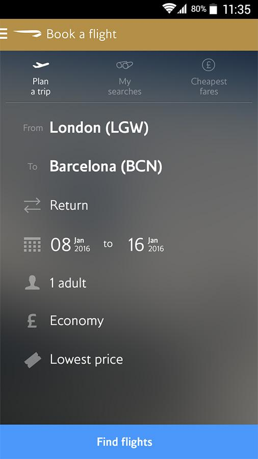 British Airways- screenshot