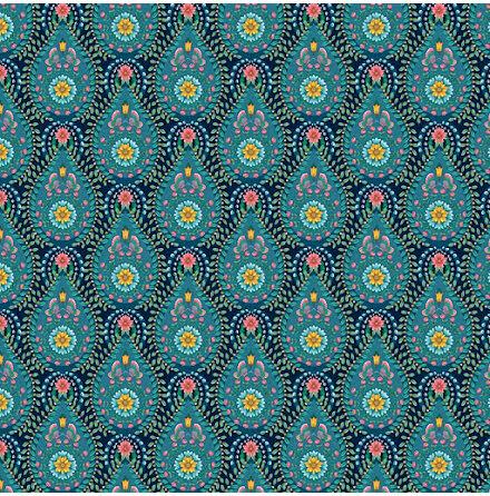 Pip 2020 Raindrops Tapet med geometriskt mönster - Mörkblå