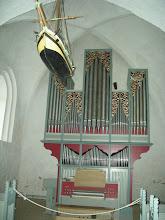 Photo: The pipe organ in Bregninge Church, 12th c.--8/23/08