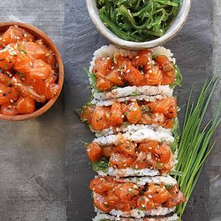 Salmon Poke Sushi Tacos.
