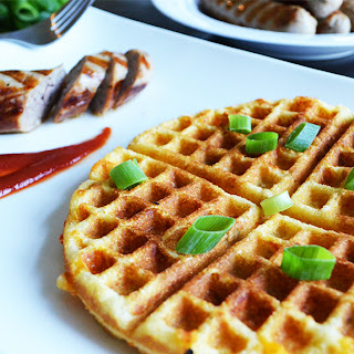 Waffled Green Chiles and Cheddar Corn Bread