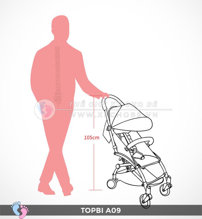 Xe đẩy trẻ em TOPBI A09 8