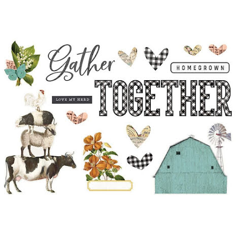 Simple Stories Simple Page Pieces - SV Farmhouse Garden Gather Together