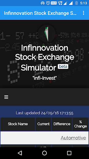 Infinnovation SE Simulator Screenshot