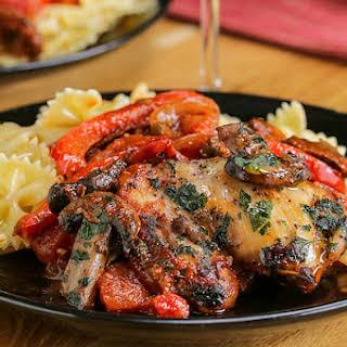 1. Chicken With Tomato Wine Sauce (Chicken Cacciatore).