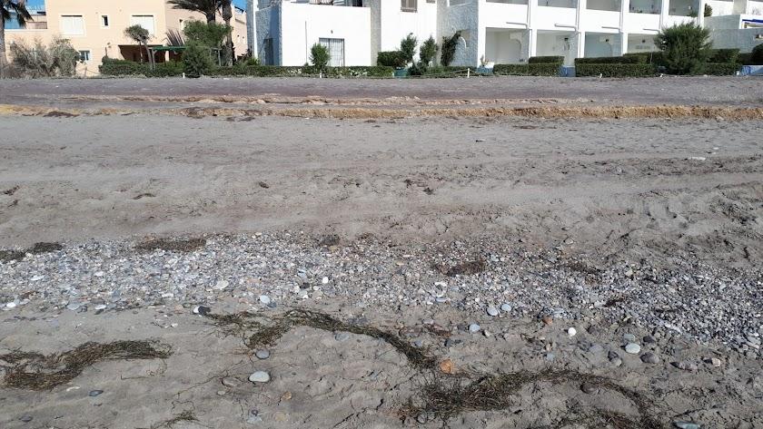 Una de las zonas afectadas de Vera Playa.