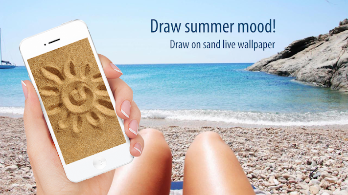 Draw on sand live wallpaper - screenshot
