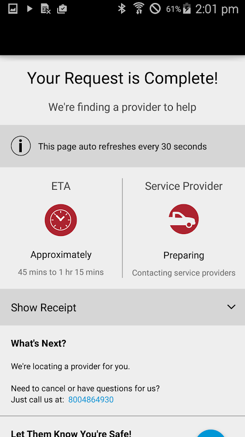 MINI Roadside Assistance- screenshot